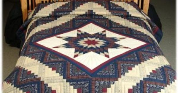 Log Cabin Lone Star Quilt Queen Amish Quilts Make My