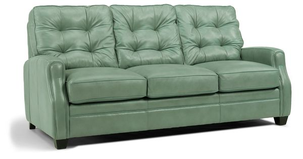 Flexsteel mint leather sofa dimensions w79quot d39quot h for Sofa by design lake oswego