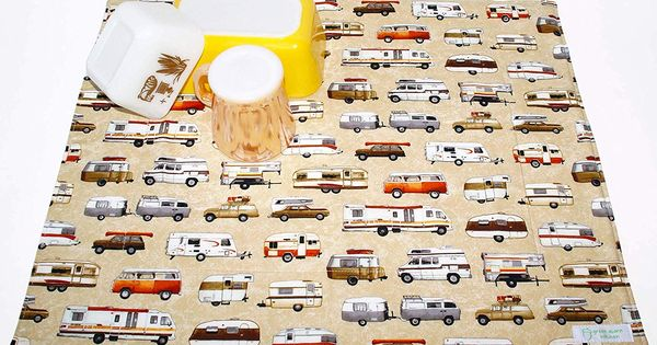 Amazon Com Camper Dish Drying Mat Coffee Station Mat Pet Placemat Appliance Mat Camping Tra In 2020 Placemats Dish Drying Mat Amazon Handmade