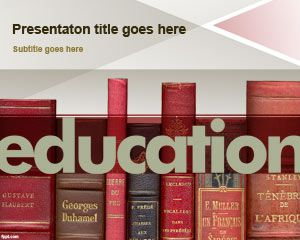 Free Education Powerpoint Template For Presentations On