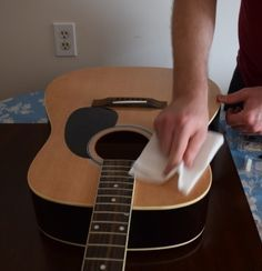 How To Clean An Acoustic Guitar Step By Step Guide Guitar Fretboard Guitar Acoustic Guitar