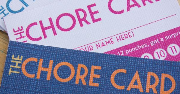 chore punch cards. stay in bed punch card??? good idea for Cam