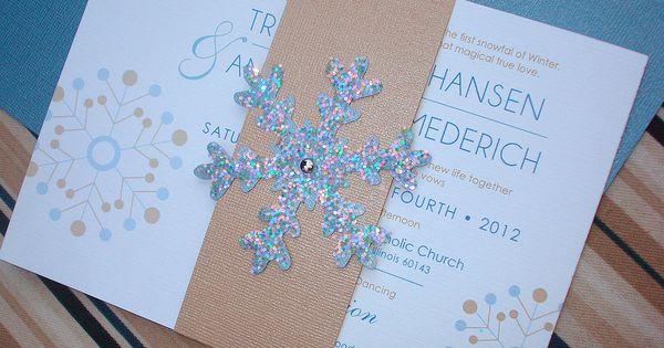 WINTER WONDERLAND TOO Snowflake Wedding Invitation ...