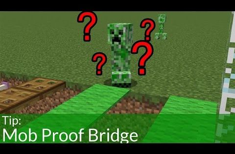 How To Make A Mob Proof Bridge In Minecraft Zombie Proof House Minecraft Mobs Minecraft Glitches