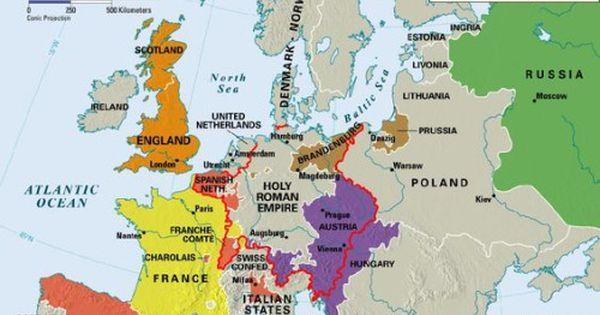 - Europe 1650.