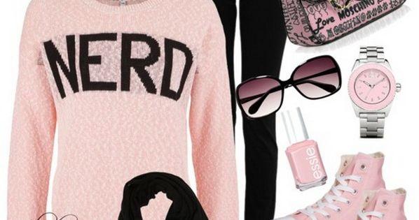 cute nerd outfit