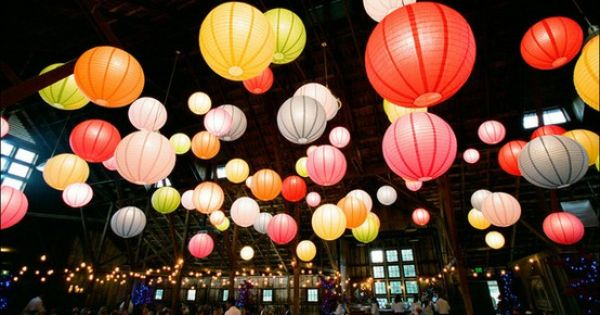 different colored lanterns