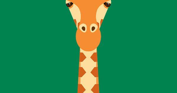 """Giraffe"" Framed Prints by Mark Walker | RedBubble £52.80.. Birthday yes"