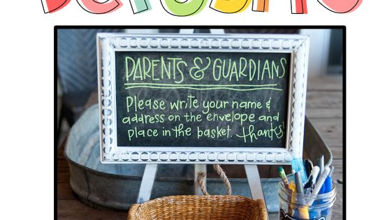 Meet the teacher tips have parents fill out an envelope with their