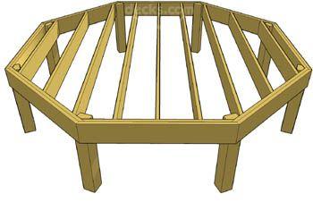 Octagon Deck Framing Deck Framing Deck Designs Backyard Diy Deck