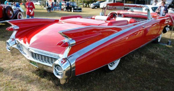 1959 White Cadillac Custom Hot Rod USA T-Shirt 59 Muscle Car Tee/'s
