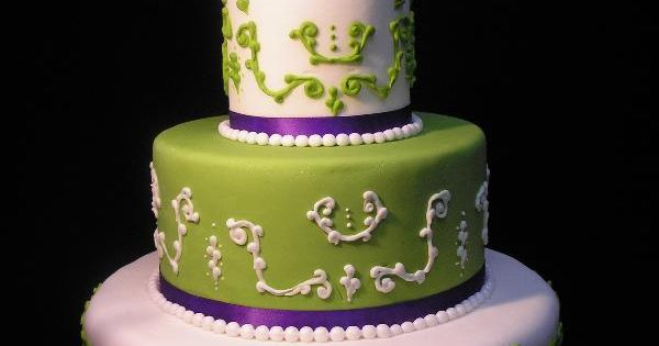 lime green and blue wedding cakes purple and green wedding cake purple lime green 16894