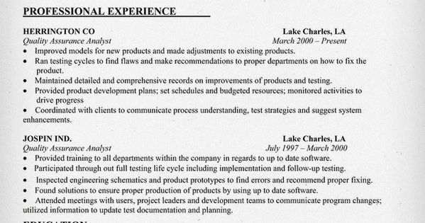 12 Quality Assurance Tester Resume