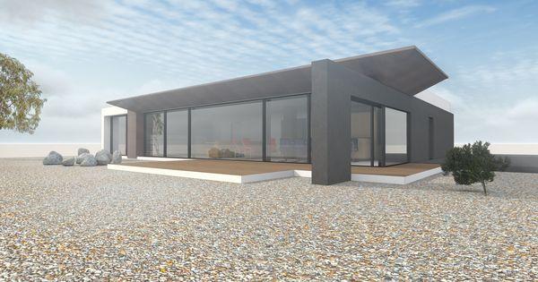 Architektenhaus ebenerdig auf 1 geschoss mit flachdach im for Architektenhaus flachdach