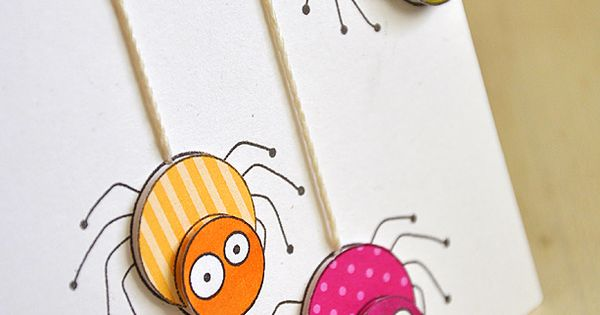 This'd be darling with google eyes glued to the faces! Handmade spider
