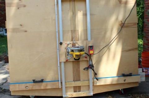 hey dad let 39 s build this diy panel saw by 2 many projects woodworking pinterest tr sl jd. Black Bedroom Furniture Sets. Home Design Ideas