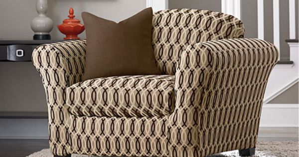 stretch via separate seat slipcovers to restyle your chair