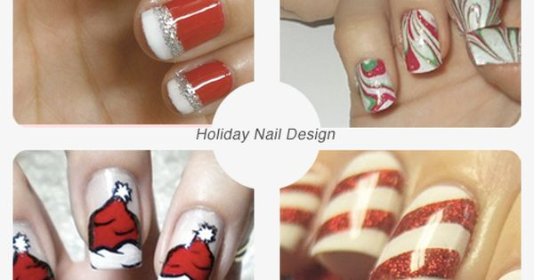 The Santa hat nails!! Omg. So cute.