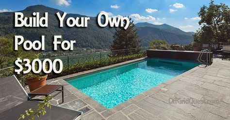 This Guy Built His Own In Ground Pool For 3000 With Step By Step Instructions And Video Diy Swimming Pool Pool Landscaping Diy Pool