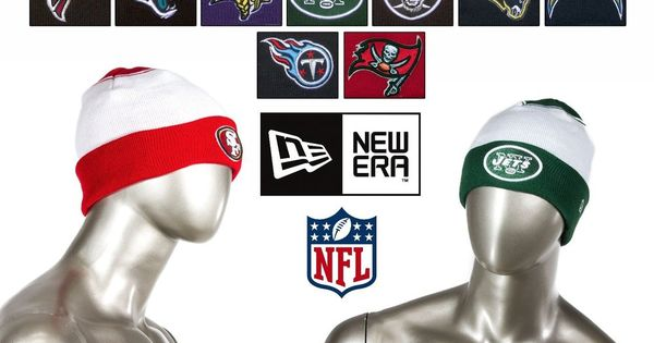 9067459ae Details about New Era NFL Team Cuffed Beanies   Knit Caps Fall with Raised  Puff logo