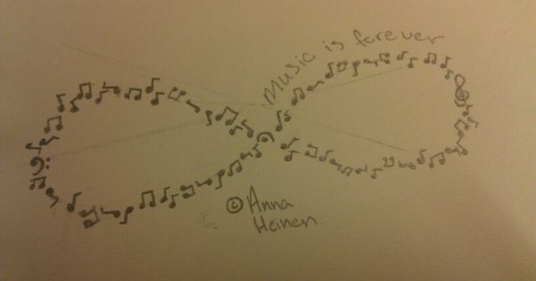 Music Note Infinity Sign Designed By Anna Heinen Made