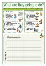 English Exercises Going To Future English Grammar Exercises Grammar Exercises Grammar Worksheets