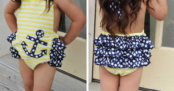 Anchor Ruffle Bubble Romper #clearance #daily-deal #new | See more about Anchors, Ruffles and Bubbles.