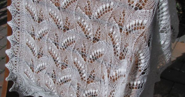 Lily Of The Valley Pattern Etsy Lace Knitting Shawls