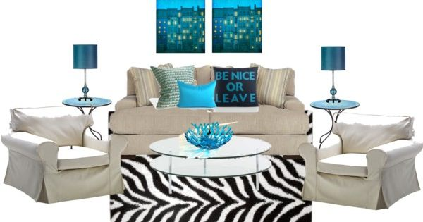 Home pinterest room set polyvore and turquoise living rooms