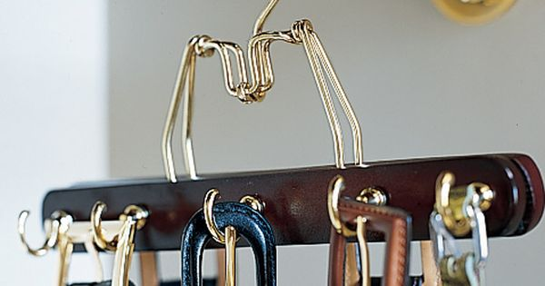DIY: belt rack