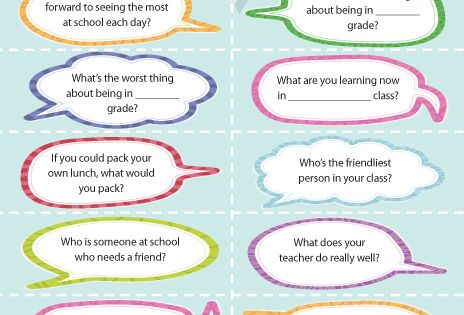 Great conversation starters for kids. Great ideas for moms on the blog