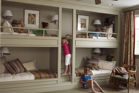 built in bunk beds great idea for space in a kids room