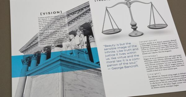 Classic Law Firm Brochure Template – Law Firm Brochure