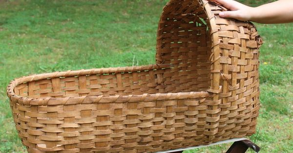 How To Weave A Moses Basket : Antique thc american indian primitive woven splint
