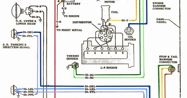6 pin telex wiring diagram electric: l-6 engine wiring diagram | '60s chevy c10 ... 6 pin truck wiring diagram #13