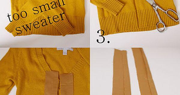 DIY Clothes DIY Refashion DIY Clothes Refashion: a pullover sweater into a