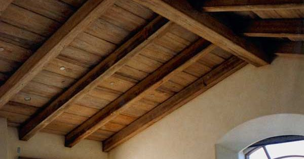 Painting Rough Cedar Ceiling Beams: Exposed Beam, Vaulted Wooden Ceiling