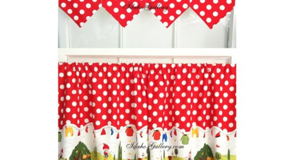 Gnomes Red Polka Dot Tier Set 54 Wide Matching Banner