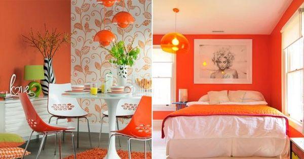 Decoraci n retro con el color naranja decoraci n - Decoracion con color naranja ...