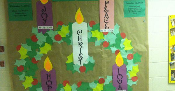 Advent Calendar Bulletin Board : Advent bulletin board made from construction paper