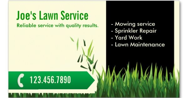 Professional mowing lawn care business card make your own for Professional garden maintenance