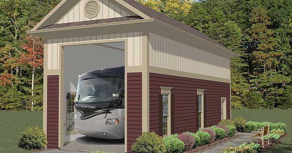 Plan 20125ga stand alone rv garage rv garage rv and rv for Stand alone carport designs