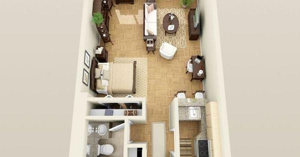 Le plan appartement du0027un studio - 50 idées originales Architecture