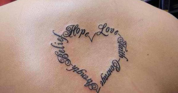 love tattoos | Faith Love Heart - Tattoo Artists.org