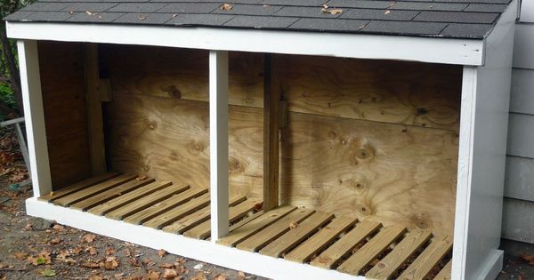 Wood shed...add a door to one side, and it doubles as a ...