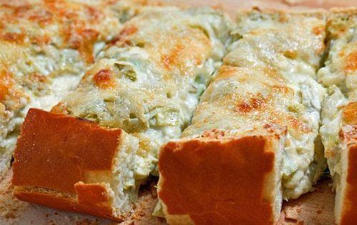 artichoke cheese bread. yum.