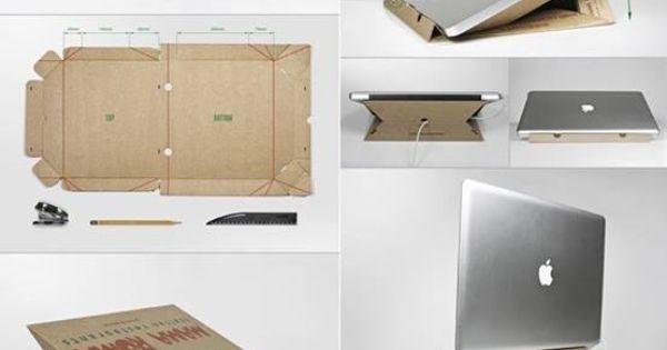 support pour laptop en carton de bo te pizza super ing nieux il fallait y penser ideas. Black Bedroom Furniture Sets. Home Design Ideas