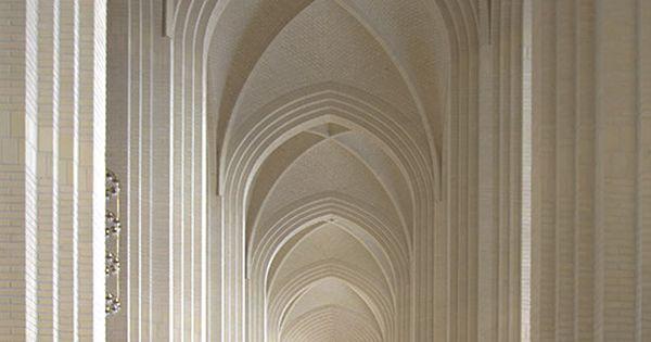 Elegance - Interior shot of Gruntvig's Kirke, Copenhagen, Denmark
