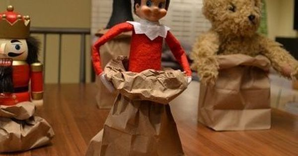 Elf on the Shelf paper bag race! elfontheshelf