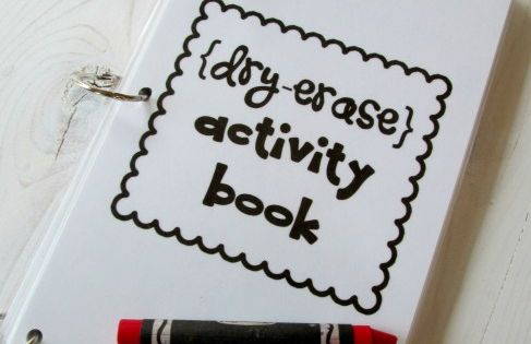 dry erase activity book {with link to printahbles} ~ would maybe be